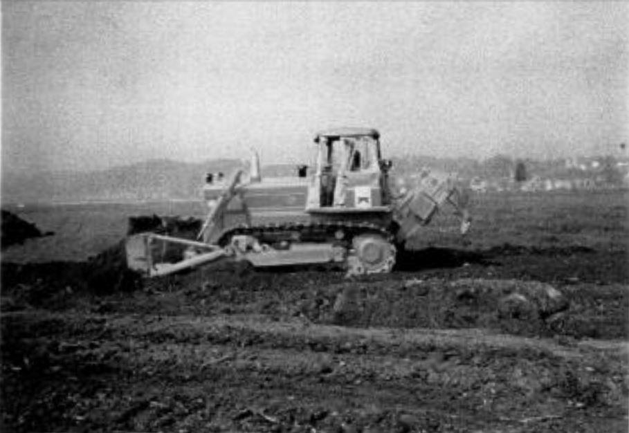 1969: Schwere Erdarbeiten auf dem Gelände