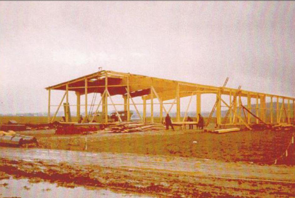 1970:Rohbau der Halle
