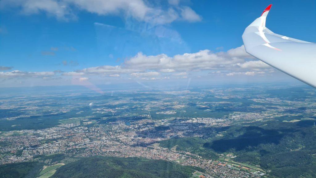 Freiburg aus knapp 2000 m Höhe
